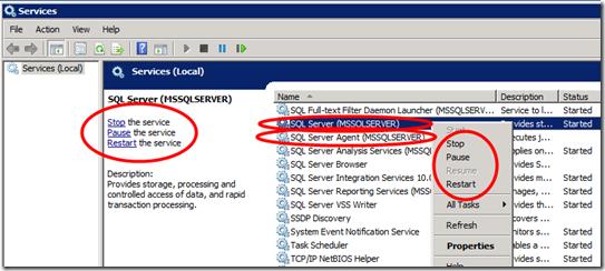 Restart - SQL Server