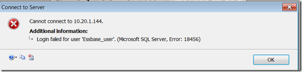 SQL Server Error: 18456